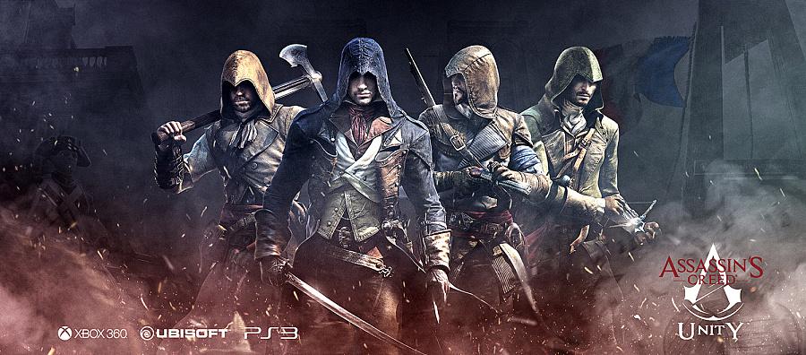 查看《【刺客信条】Assassin海报练习搞-分享PSD》原图,原图尺寸:1500x660