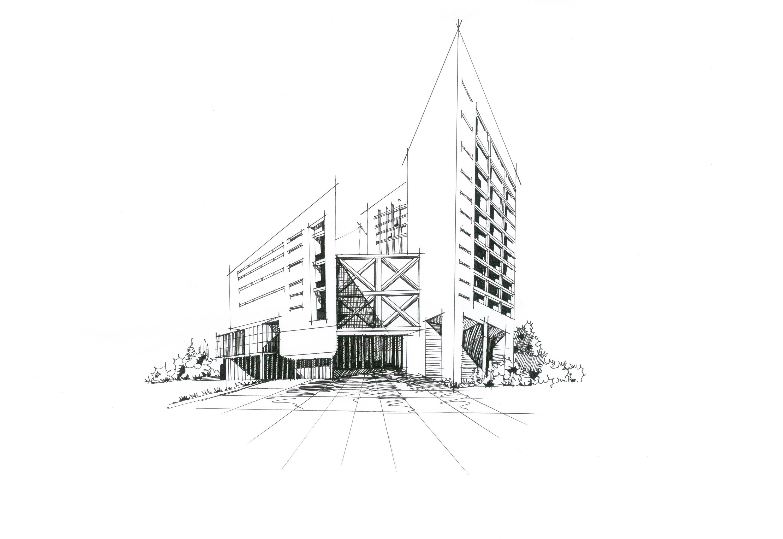 建筑画 图片
