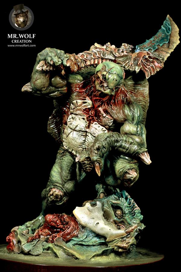 查看《作品 | Chelonian Warrior(暗夜之狼私人涂装定制作品)》原图,原图尺寸:600x900