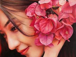 彩铅《许你一世笑靥如花》