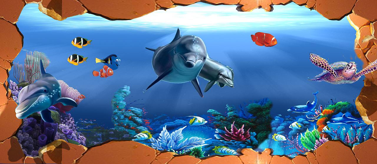 """""""海底世界""""幼儿中心墙绘"""