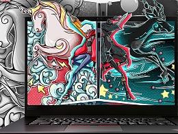 【如隐随行】ThinkPad X1 隐士 壁纸设计