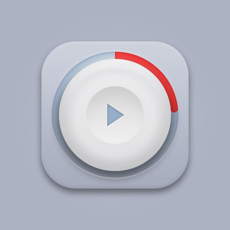 拟物按钮图标 图标 UI xmQ的mmp - 原创设计作