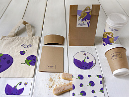 鲜果飞行-咖啡简餐品牌形象设计
