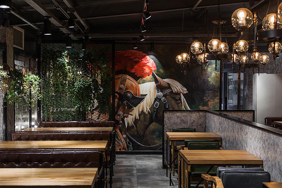 烧烤店 · 餐饮空间设计_冰城串吧 北京店