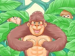 【商业插画】动物主题立体绘本