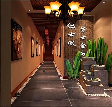 会所装修公司 丽江特色足浴会所设计公司 丽江足浴会所装修设计公司图片