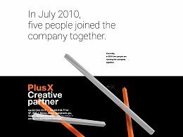 Plus X Portfolio WebSite UX/UI Design