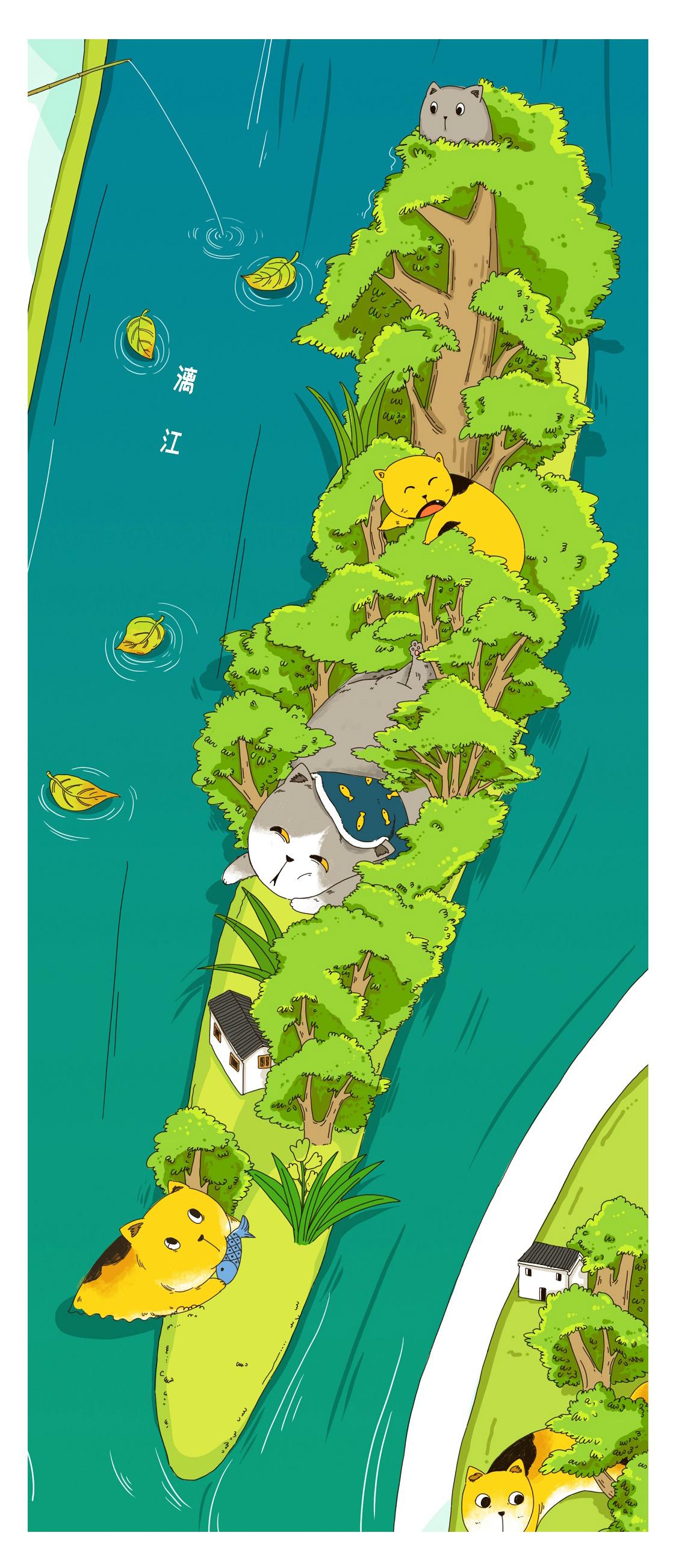 猫空 阳朔手绘地图