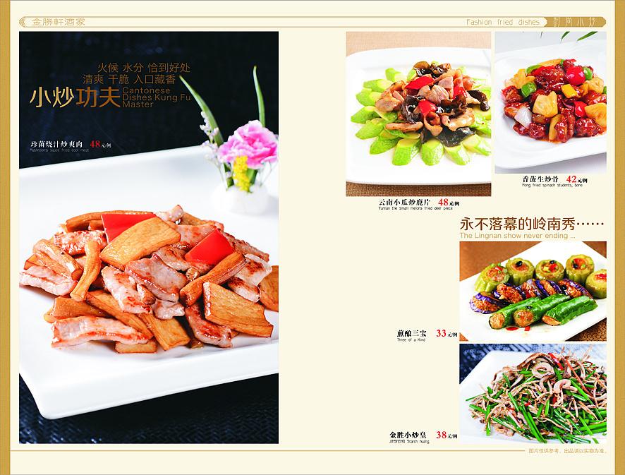 餐饮策划之菜谱图片