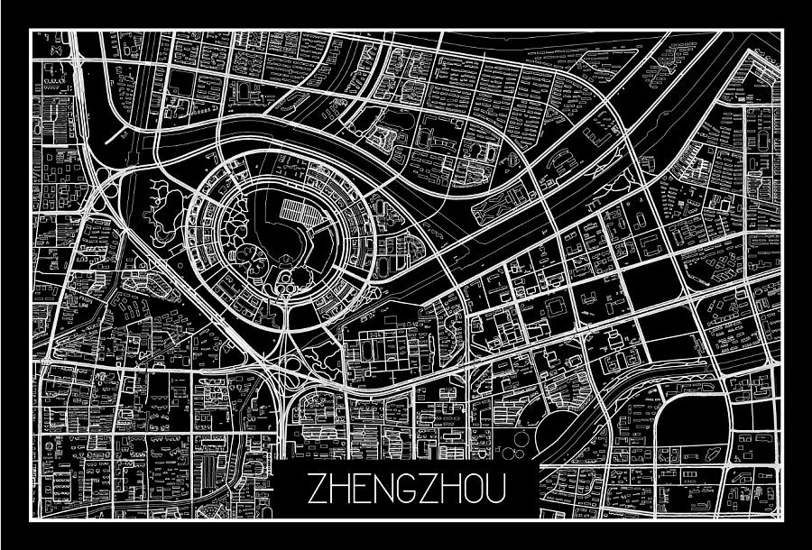 地图黑白——郑州