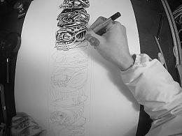 第一次把自己绘画的过程制作成视频:)