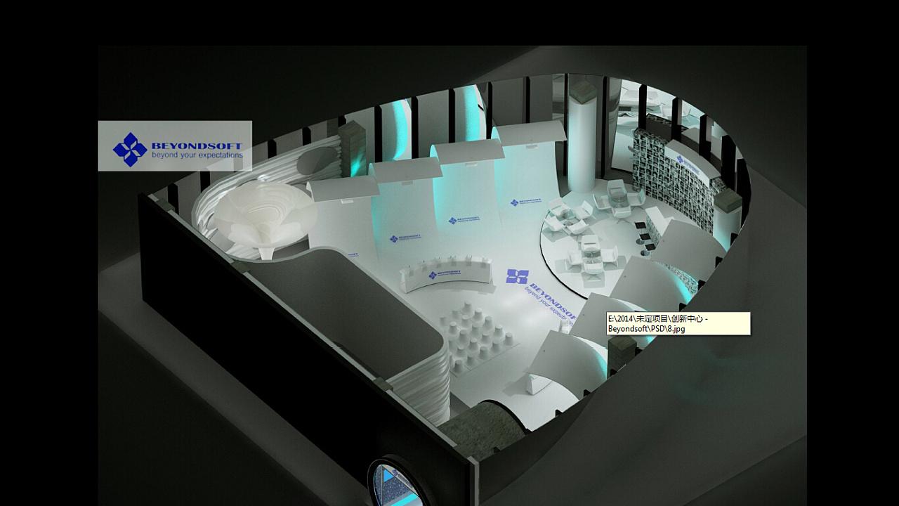 展厅设计三视图手绘
