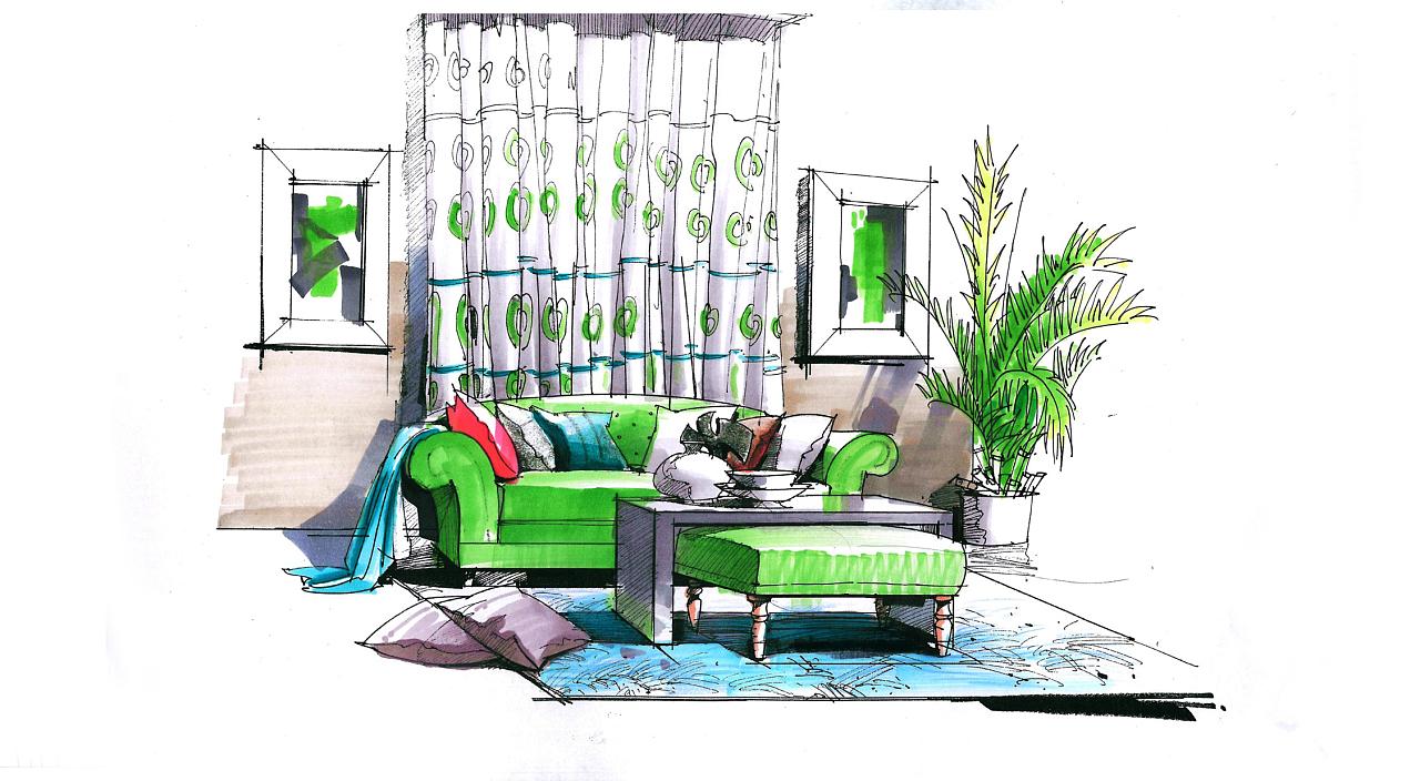 室内,景观手绘,3d,模型