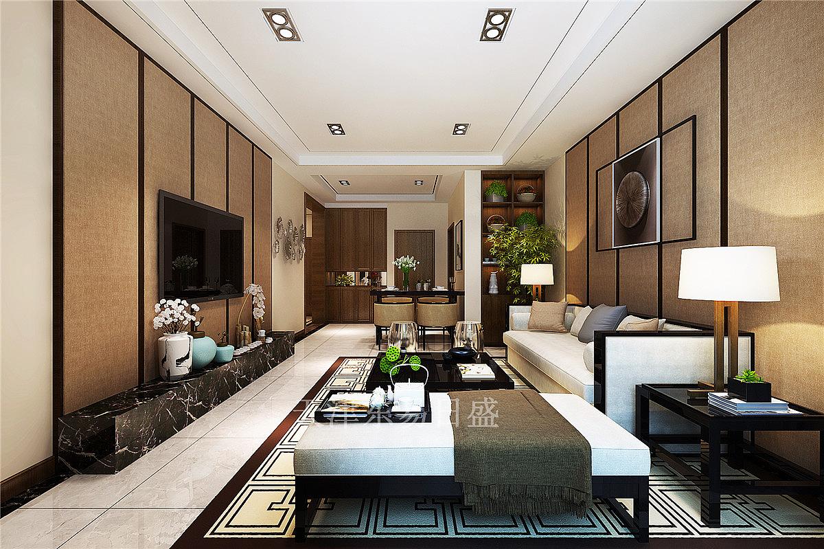 天津东易日盛-格调临泉新中式风格129平米装修效果图