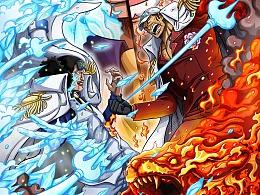 海贼王——冰与火的碰撞(青稚大战赤犬)