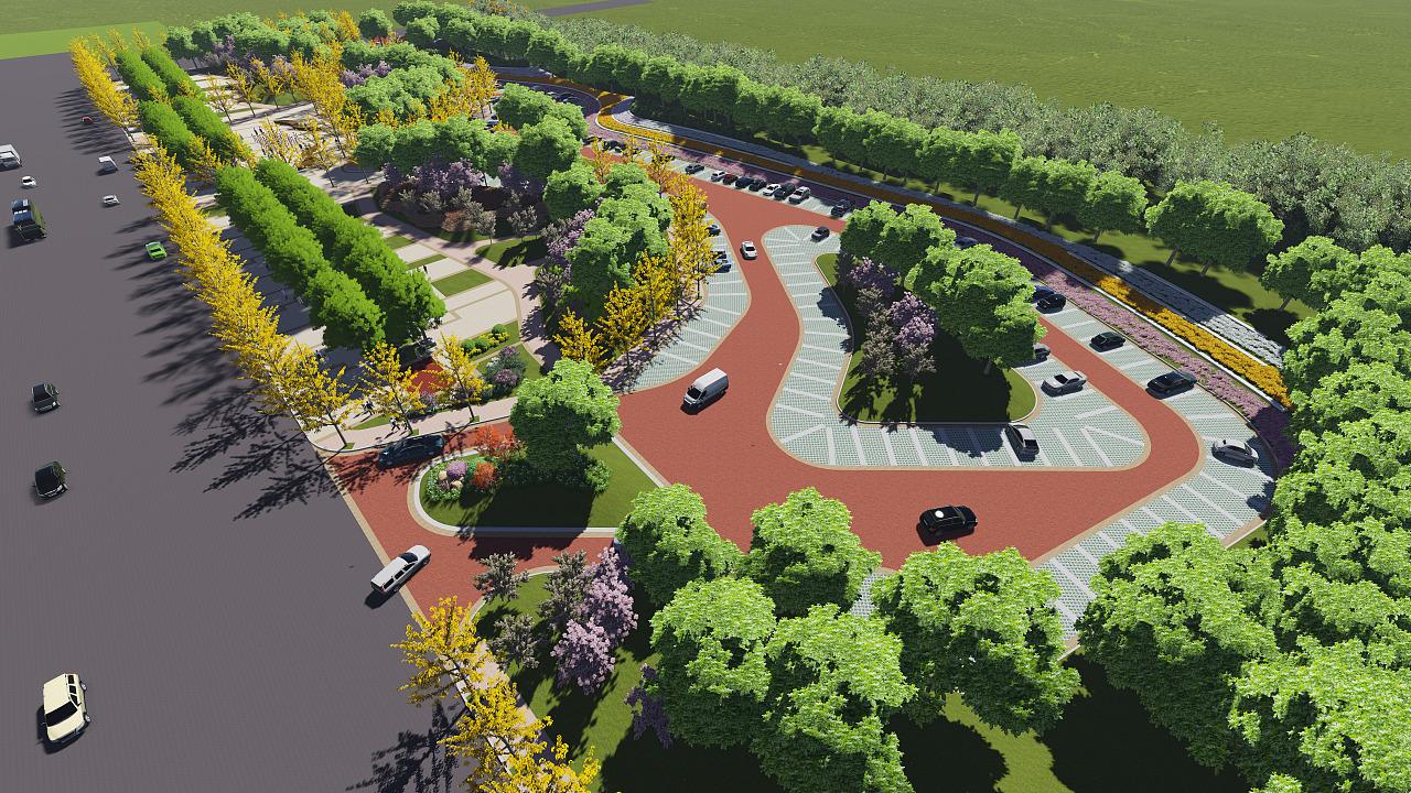 社区公园与生态停车场相结合