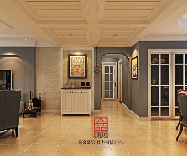 简美风格-三室两厅-石家庄金舍装饰|室内设计|空西方建筑设计书籍图片