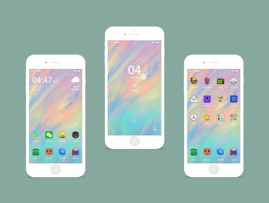 将制作的icon展示在了苹果手机界面中图片