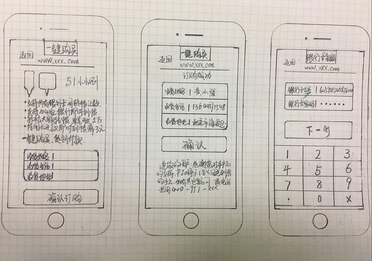 银行app-低保真与手绘原型图 ui 交互/ue mandy_lucky