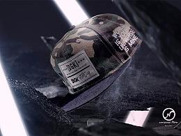 平沿帽 嘻哈 宇宙人视觉 创意摄影 帽子