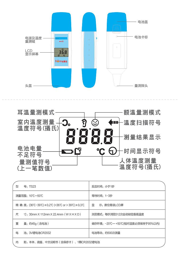 京东网络设计 产品排版 耳额温枪 体温计 功能表 网络图片