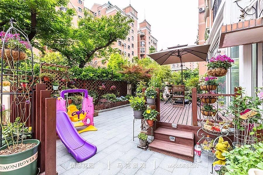 充满了生活气息的花园设计小院子