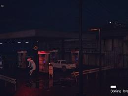 废弃的加油站