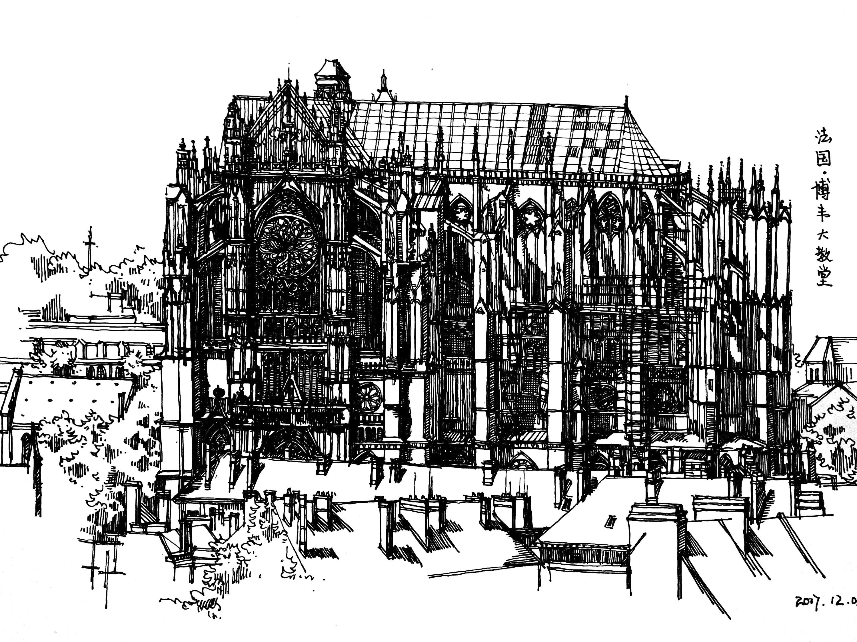 建筑 手绘