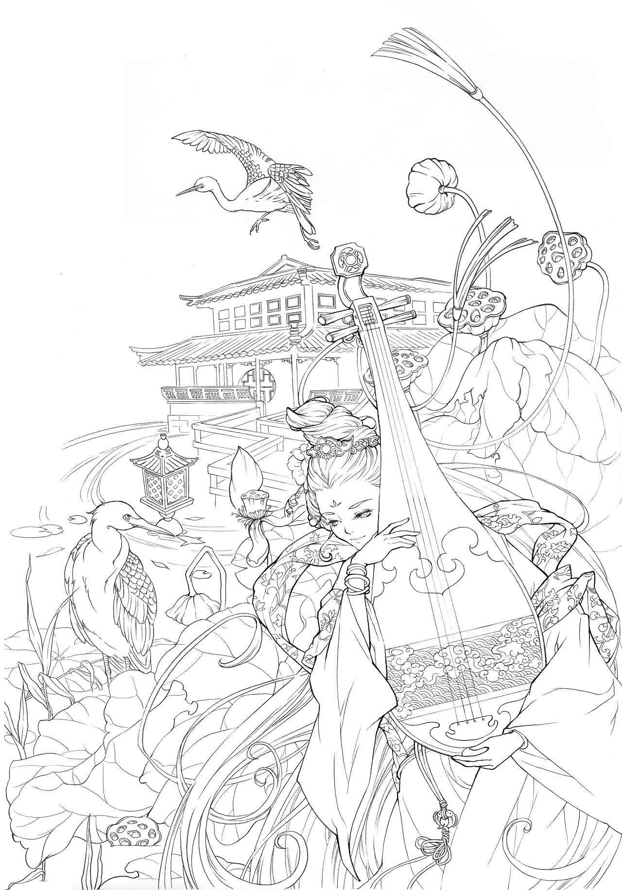 简笔画 手绘 线稿 1280_1832 竖版 竖屏