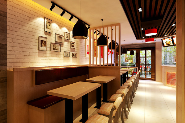 米坐米线店-成都简易店装修设计效果图,米线简单的厨房设计图图片