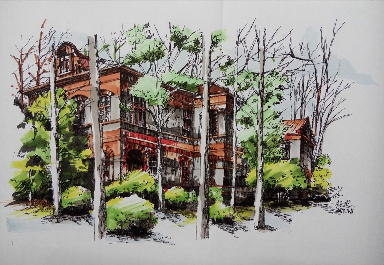 马克笔绘画|纯艺术|钢笔画|hannayang - 原创作品图片