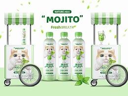 宠物包装设计mojito喵吉托猫咪饮用水