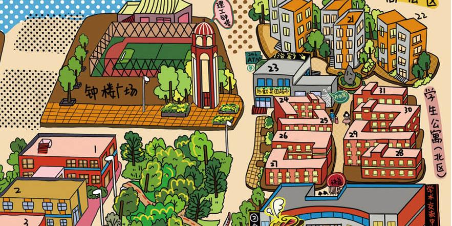 创意手绘地图|商业插画|插画|stellamjj - 原创设计