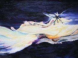 抽象假油画