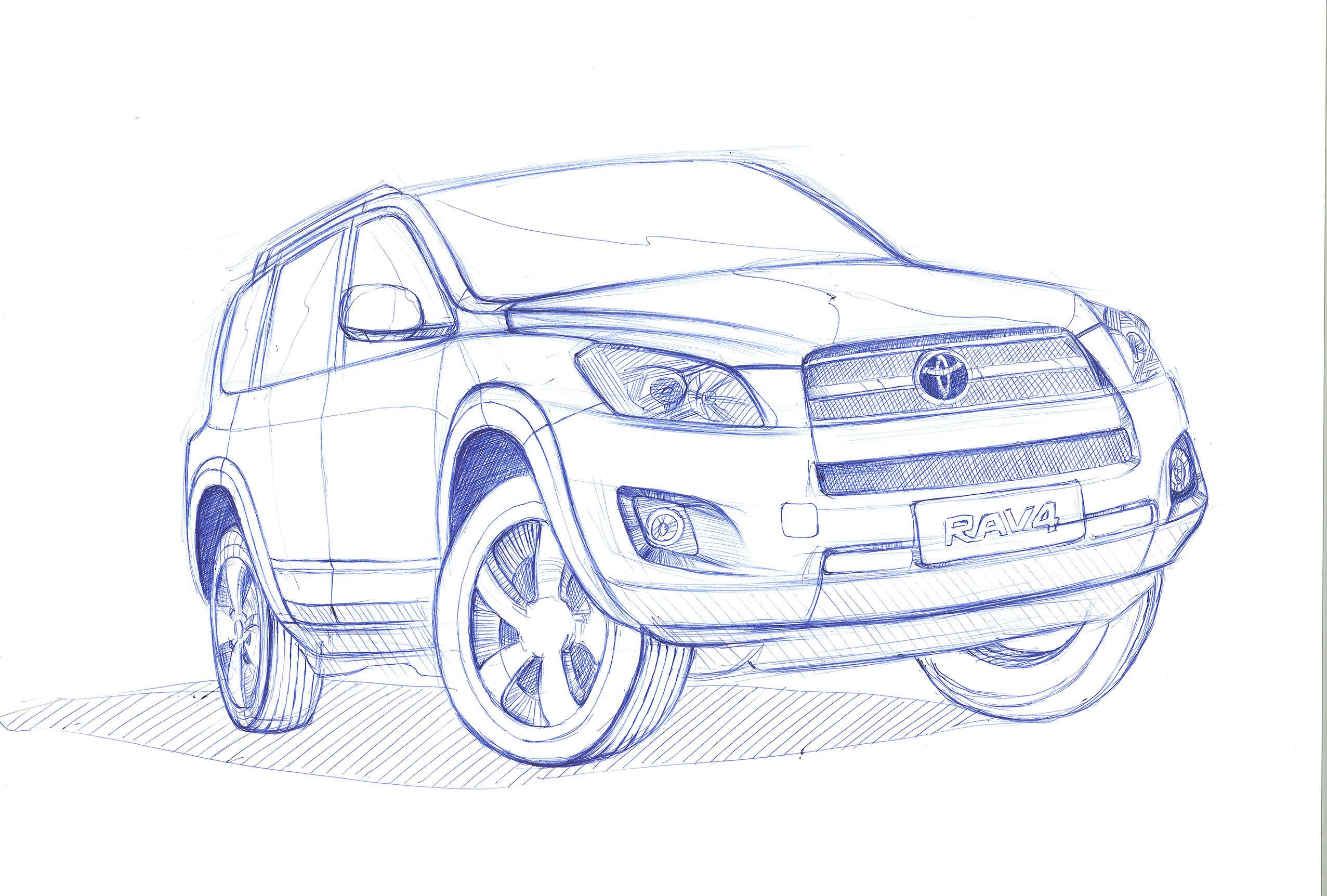 圆珠笔手绘汽车作品|工业/产品|交通工具|饮水思源