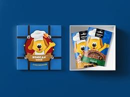 狗零食logo+吉祥物+包装手绘插画设计 谢安妮