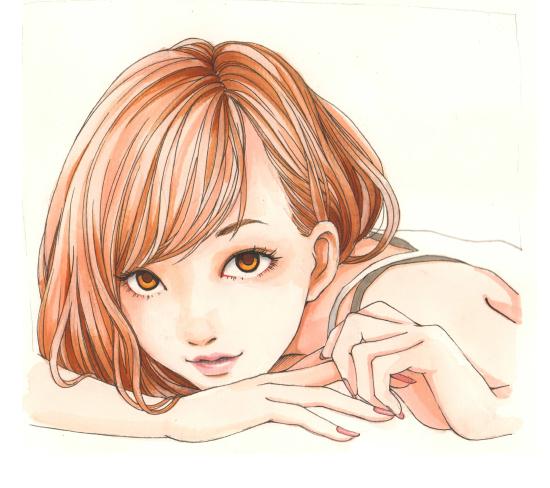 手绘哲:女孩子手绘步骤图(二)|绘画习作|插画|骏一绘