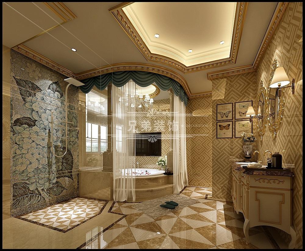融科橡树澜湾别墅450平米装修设计效果图|法式风格|别墅装修首选重庆图片