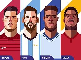 如何创建人物插图——2018年世界杯版