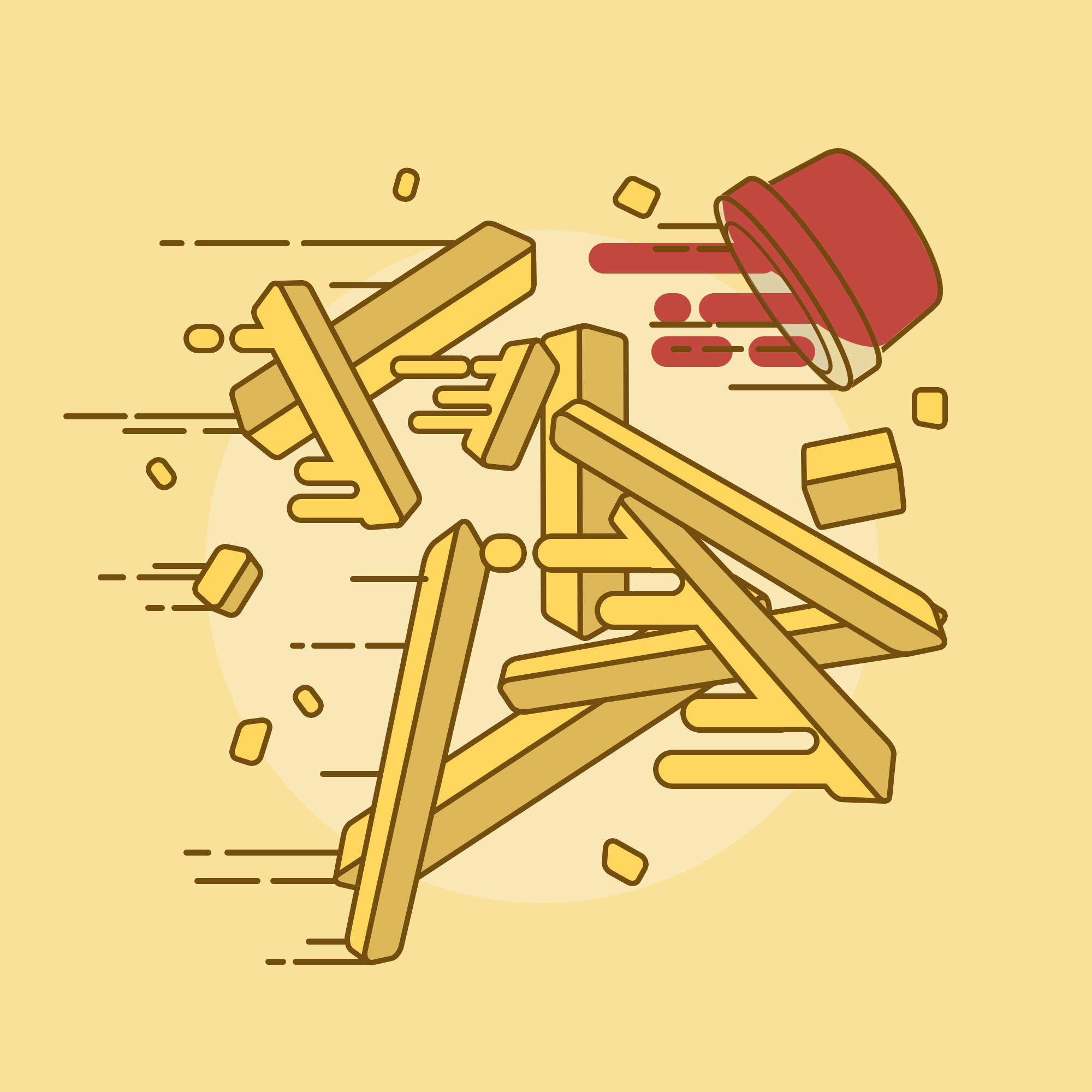 卡通薯条简笔画