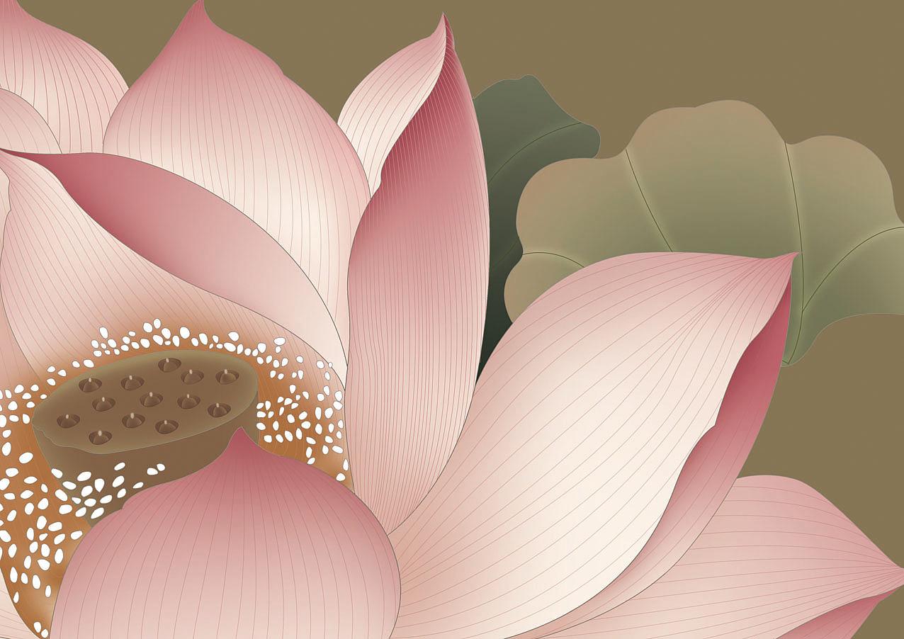 电脑手绘 国画 花卉花鸟