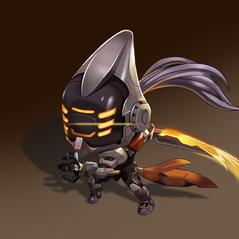 手绘lol合金装备剑圣-游戏人物