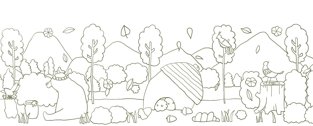 森林背景图简笔画