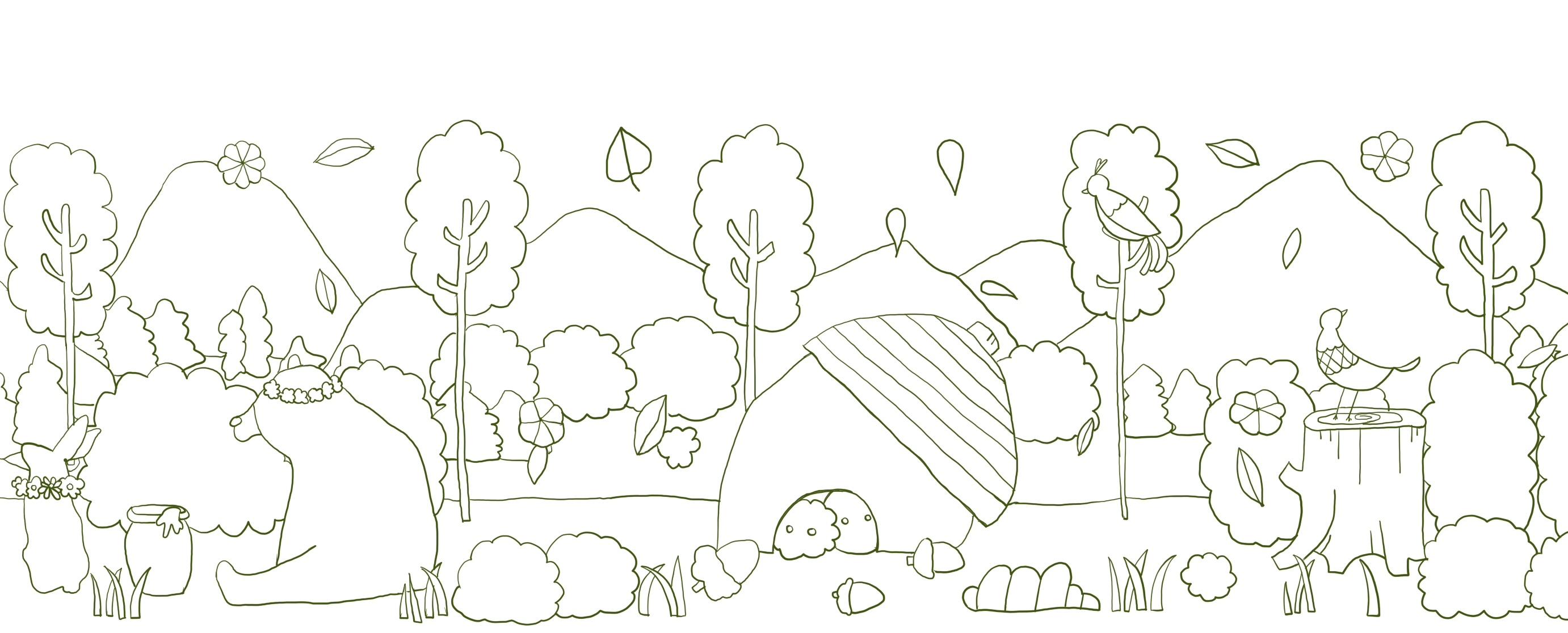 五月简笔画_五月森林