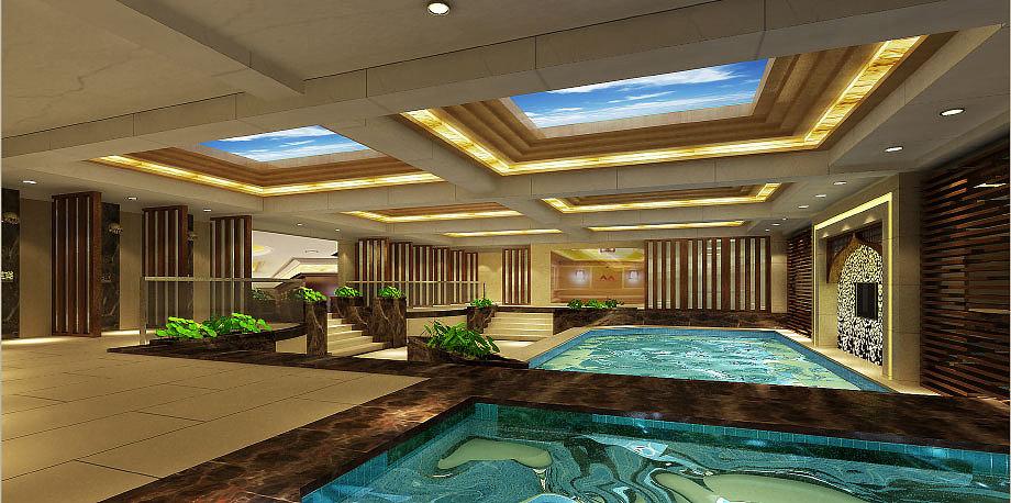 凯莱特酒店温泉酒店设计|广汉广汉线路酒店装修|德阳德阳设计温泉度假绘本绘制商务图片