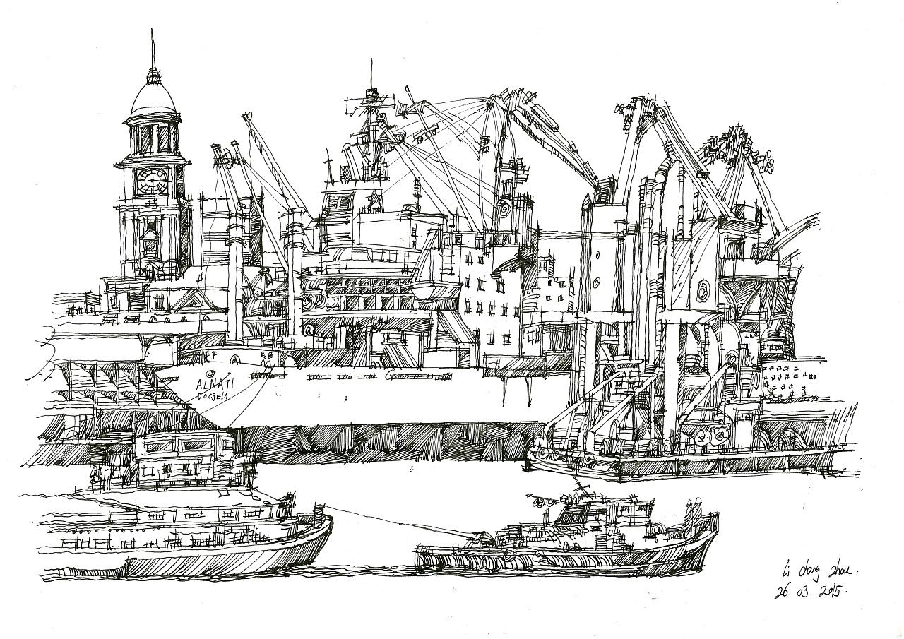 欧洲 建筑手绘线稿