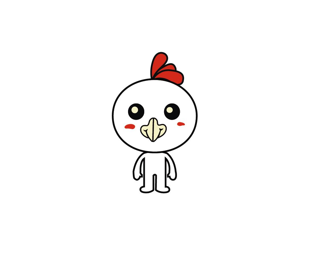 原創小公雞卡通漫畫動漫手繪插畫扁平風吉祥物動物公雞