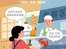 Tencent20周年微信支付插画