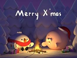 圣诞快乐——和比心海豹一起篝火之夜【动画】